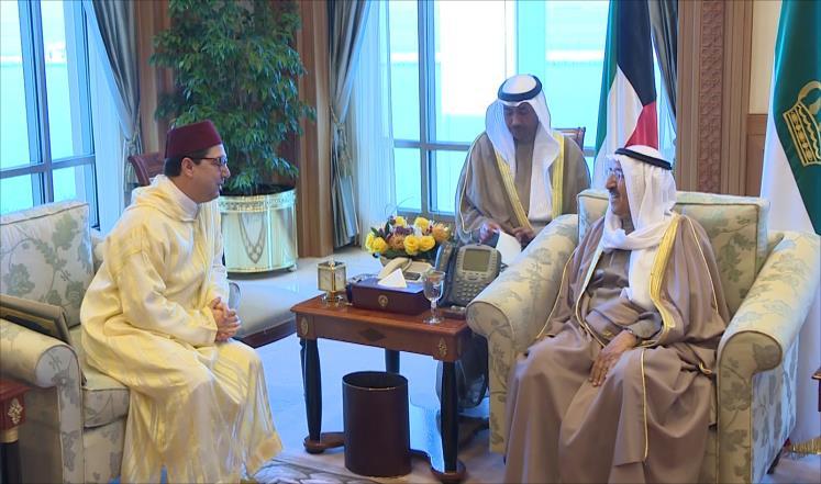 رسالة خطية من ملك المغرب لأمير الكويت